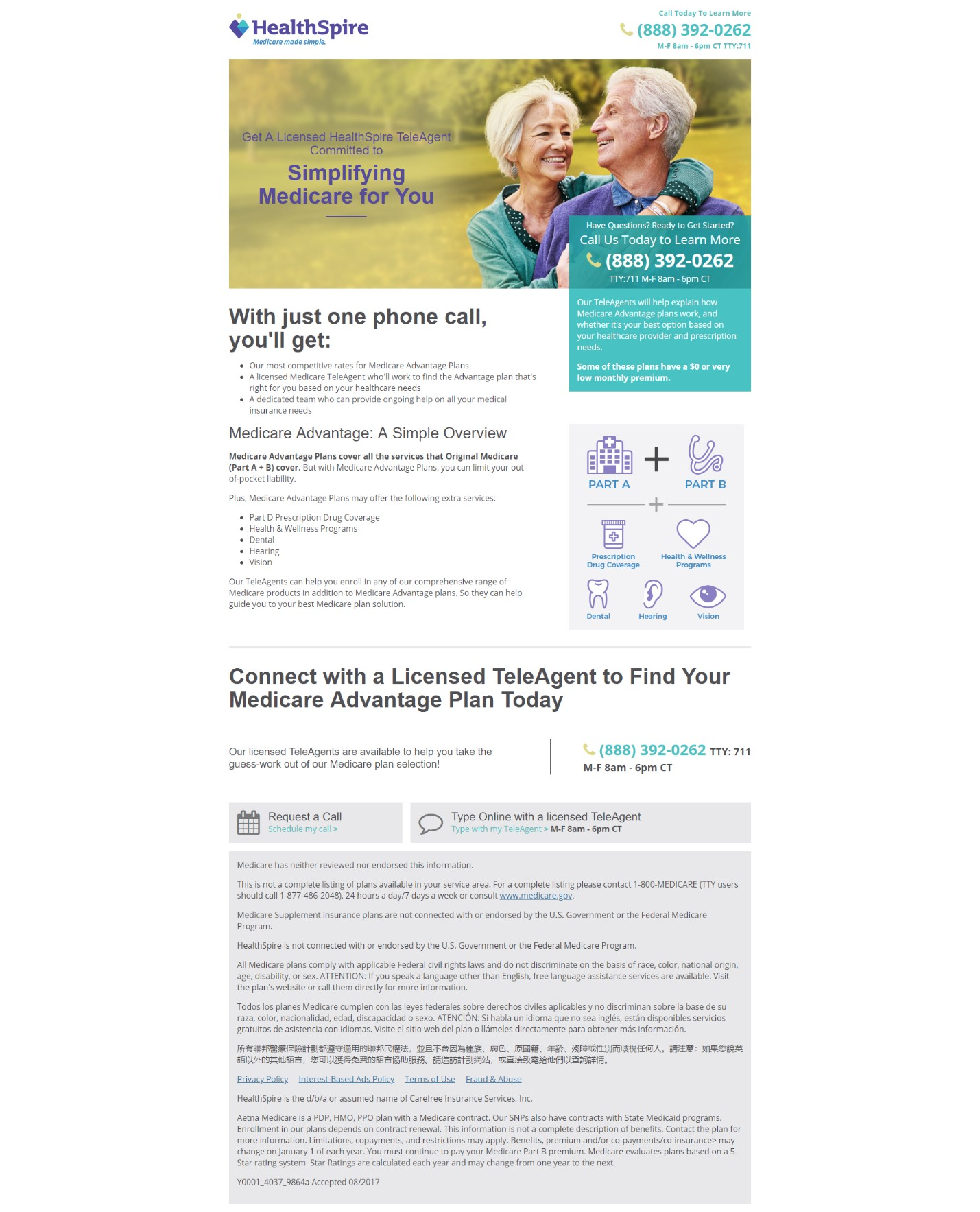 Landing Page Optimization: How Aetna's HealthSpire startup generated